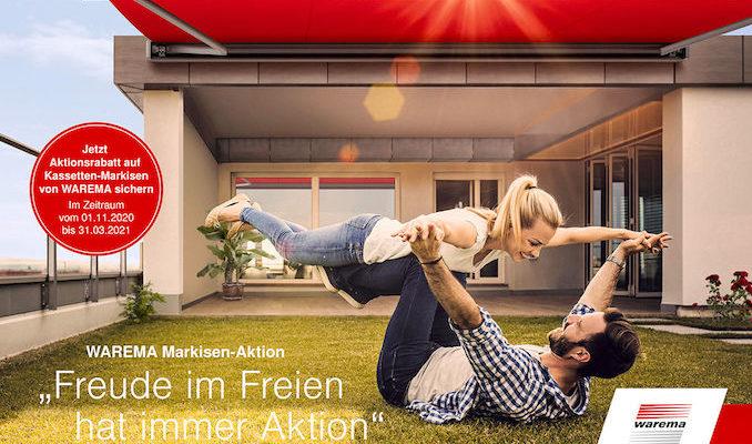 Jetzt Aktionsrabatt auf Kassetten-Markisen von WAREMA sichern Image